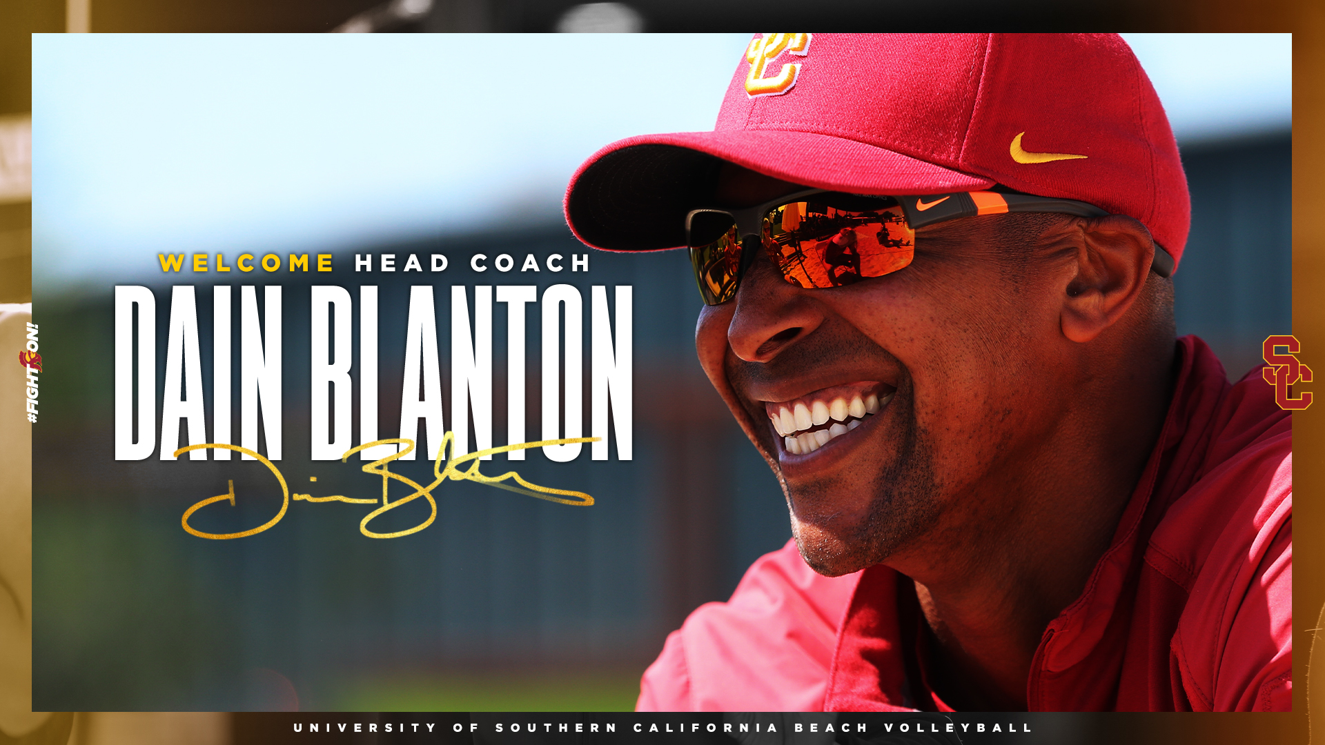 Dain Blanton head coach announcement graphic